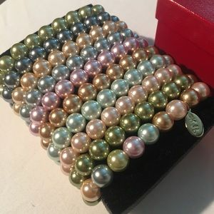 Kenneth J Lane First Lady Pearl Set 10 Bracelets